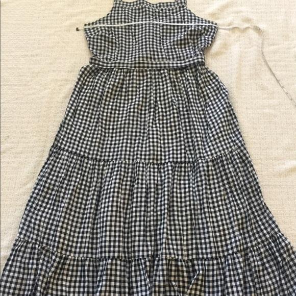 Old Navy Dresses & Skirts - Old Navy Black & White Plaid Maxi Dress Sz L